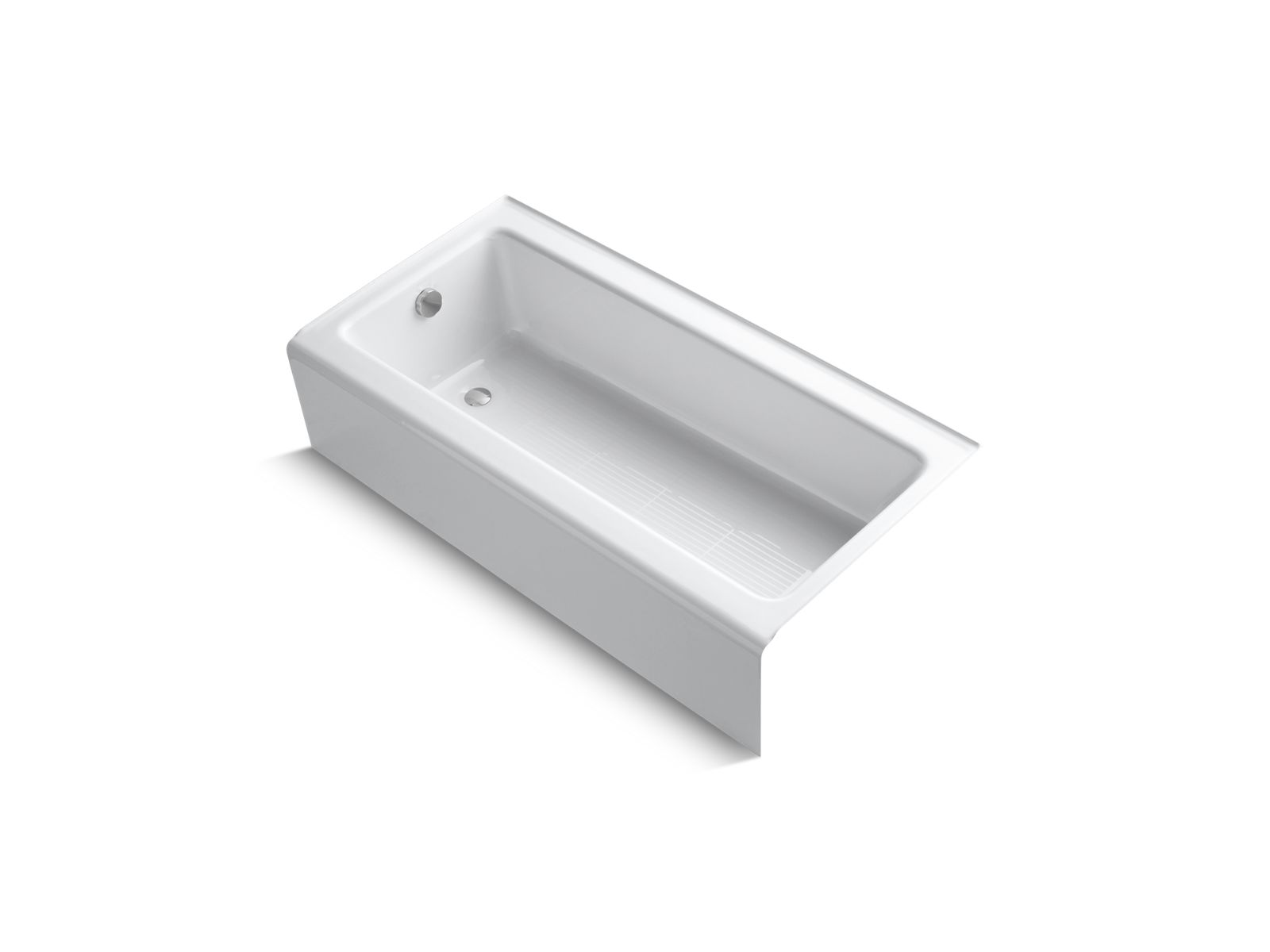 KOHLER| K-837 | Bellwether 5-Foot Cast Iron Bath with Left Drain ...