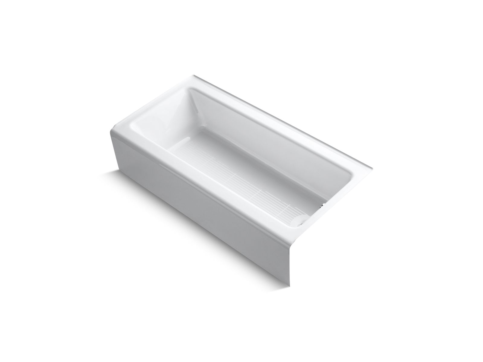 kohler k838 bellwether 5foot cast iron bath with right drain kohler - Kohler Tub