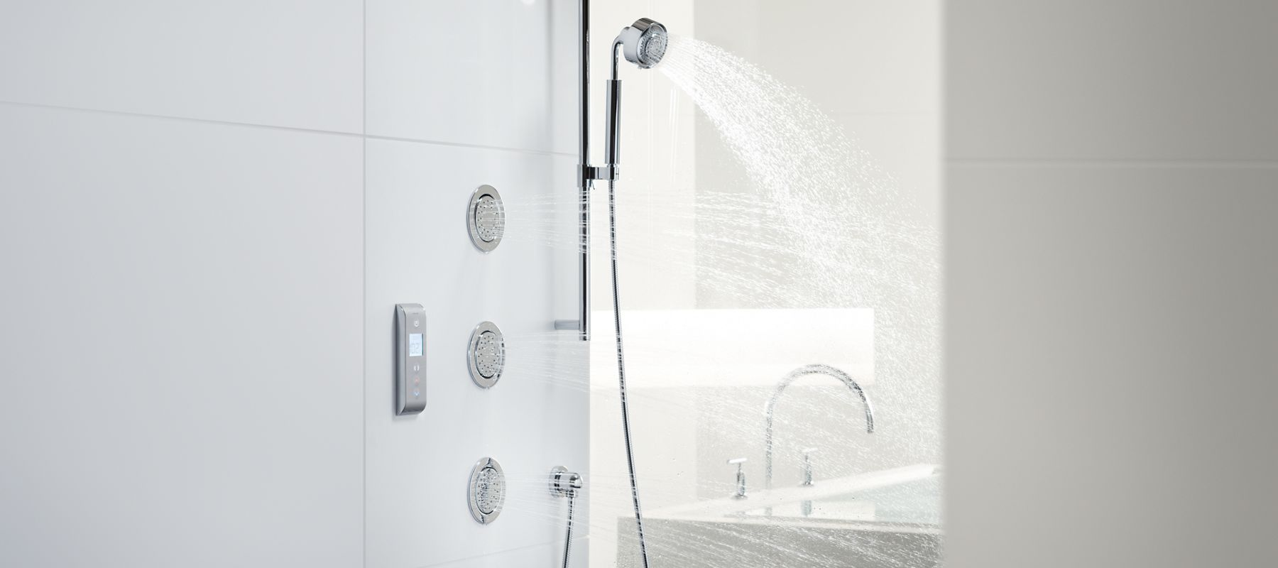 thermostatic hand shower column systems grohe product with bathroom prod