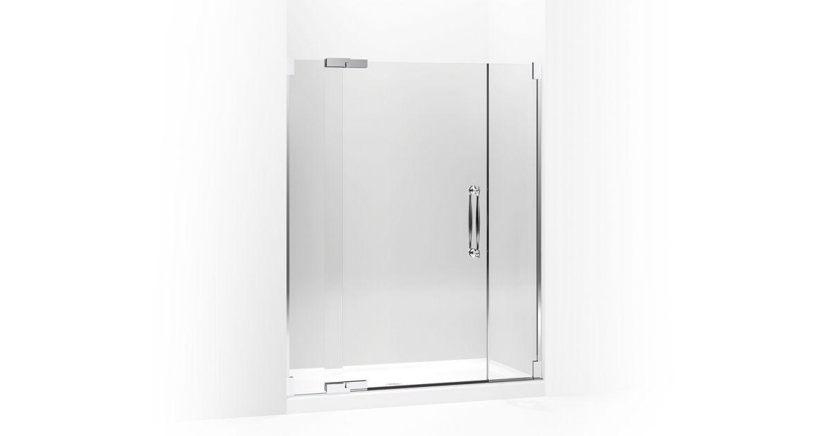 Finial Frameless Pivot Shower Door K 705729 L Kohler
