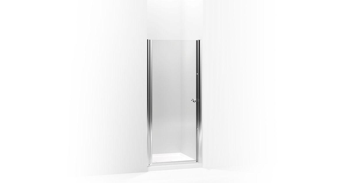 K 702408 L Fluence Frameless Pivot Shower Door With 1 4 Inch Gl Kohler