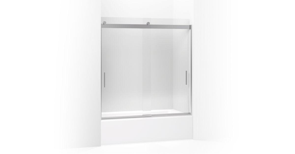 Levity Frameless Sliding Bath Door | K-706000-L | KOHLER