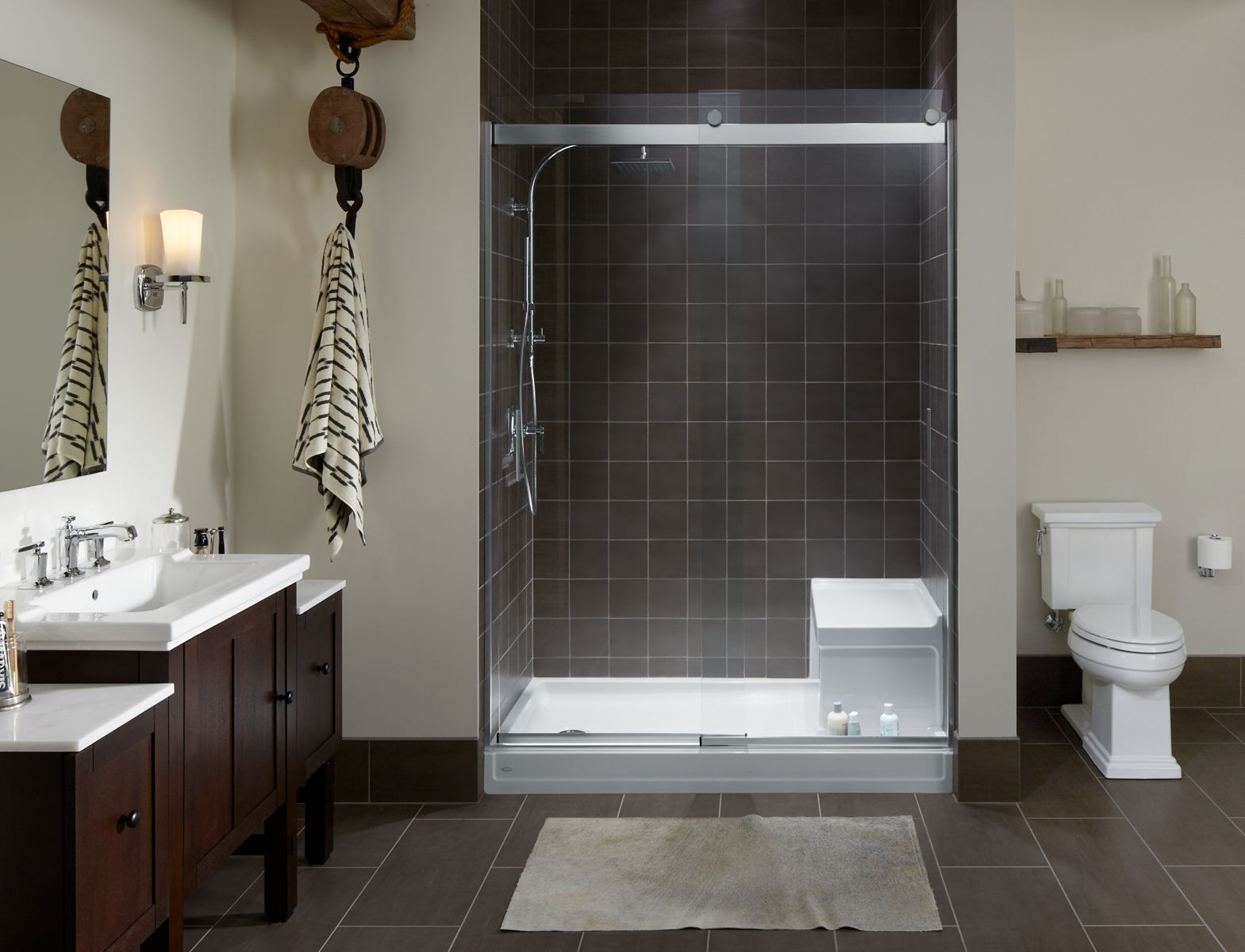 Shower Bases With Integral Seats