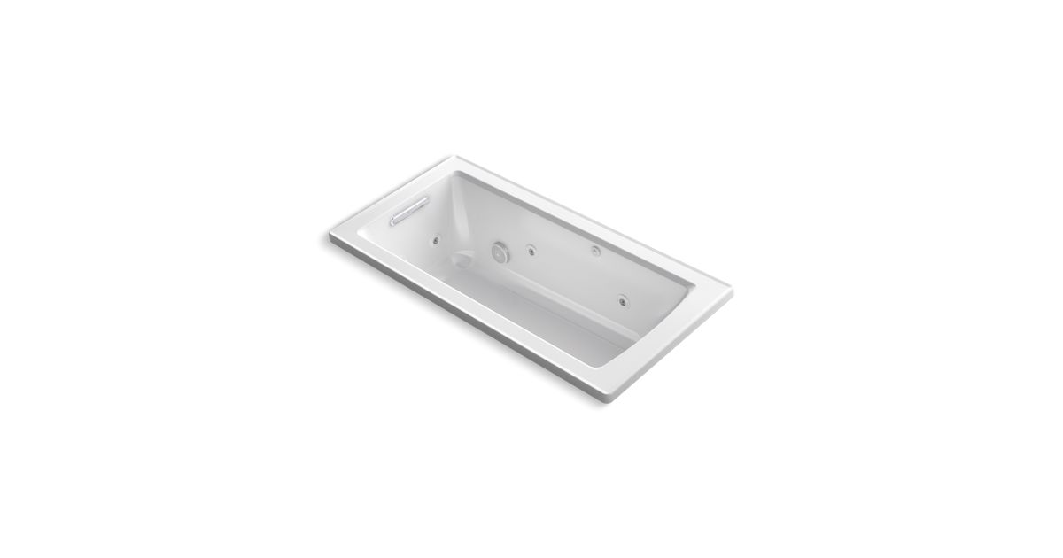 Archer 5-Ft Drop-In Whirlpool with Comfort Depth | K-1947 | KOHLER