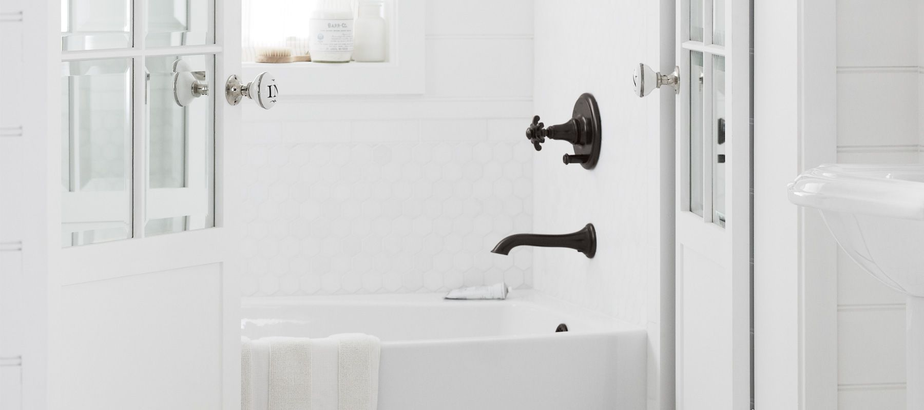 Shower faucets bathroom faucets bathroom kohler - Kohler two tone bathroom faucets ...
