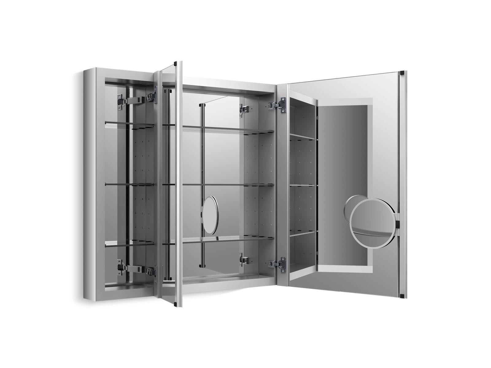 K 99011 | Verdera Medicine Cabinet With Triple Mirrored Doors | KOHLER