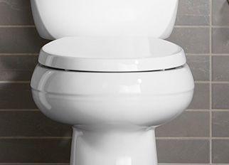 white toilet with black seat. Toilet Seats Guide Bathroom  KOHLER