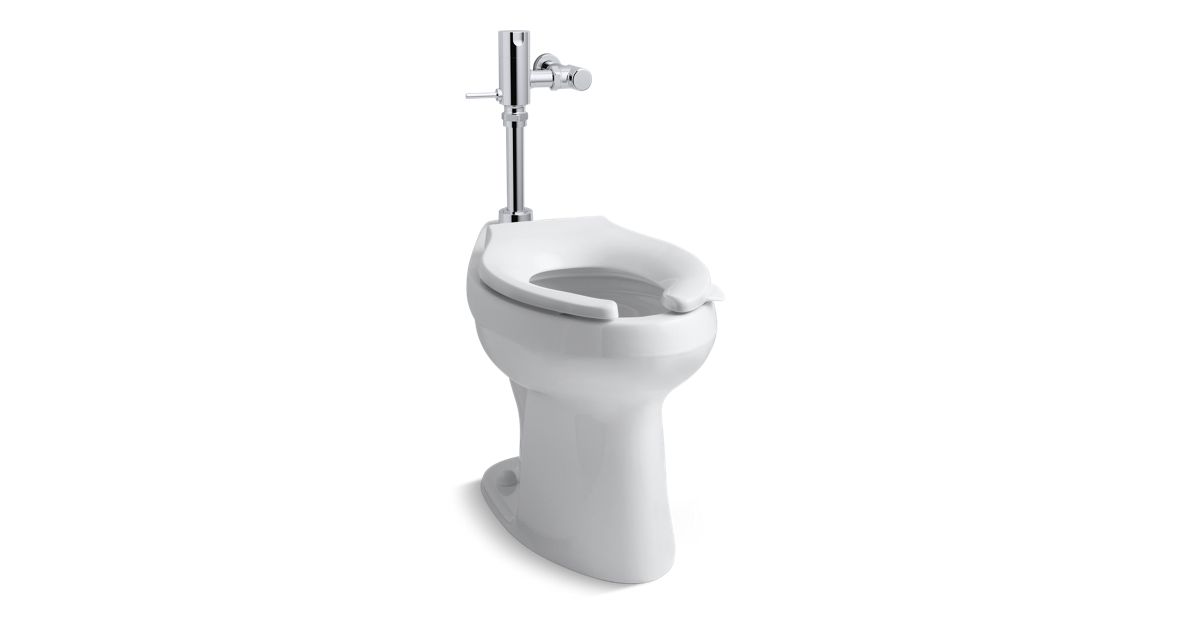 Manual Flushometer And 1 28gpf Toilet Combination K