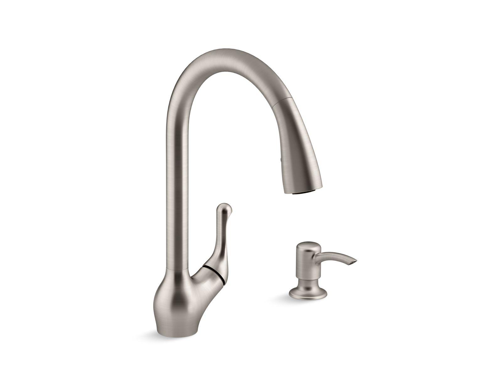 K R78035 SD | Barossa® Touchless Pull Down Kitchen Faucet With Soap/lotion  Dispenser | KOHLER
