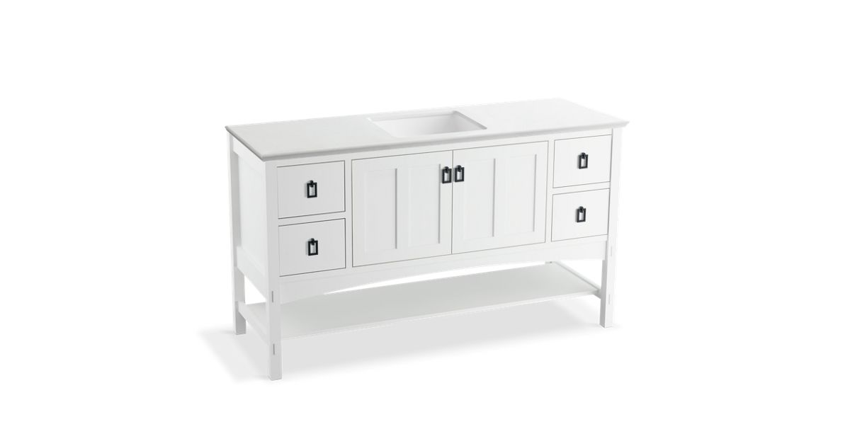 Marabou 60-inch Vanity With 2 Doors, 4 Drawers