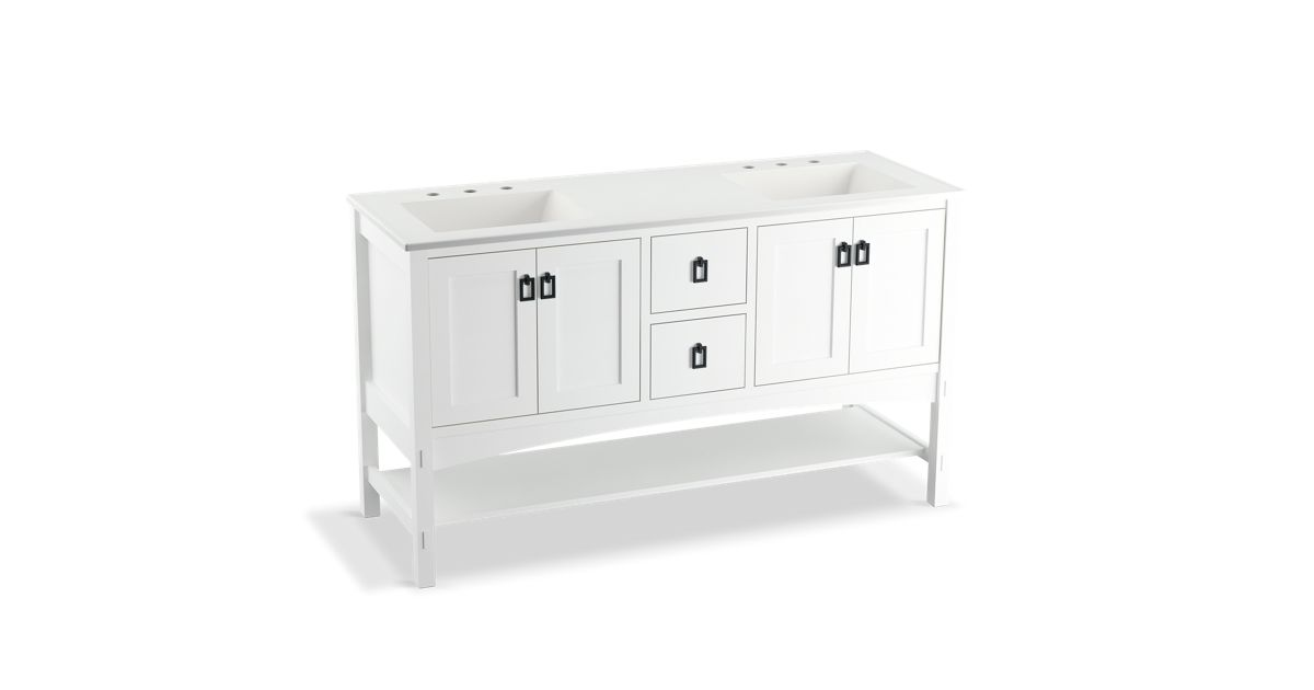 K 99559 Marabou 60 Inch Vanity With 4