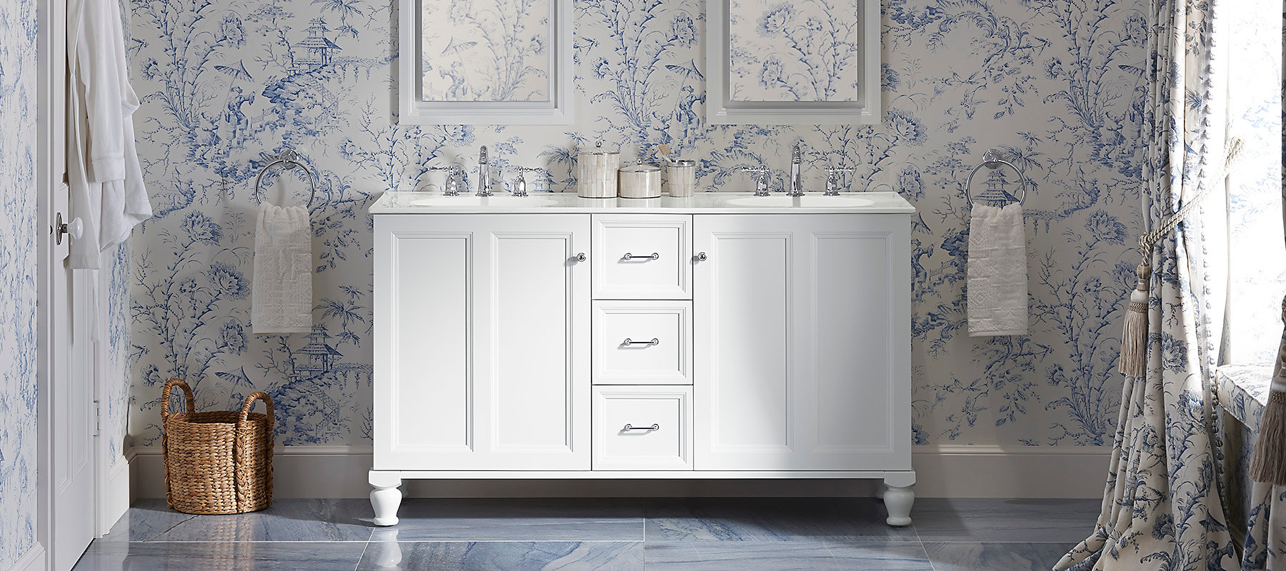 Antique white bathroom vanity buy or sell bath amp bathware in ontario - Kohler Beauty Begins With Eye Catching Storage