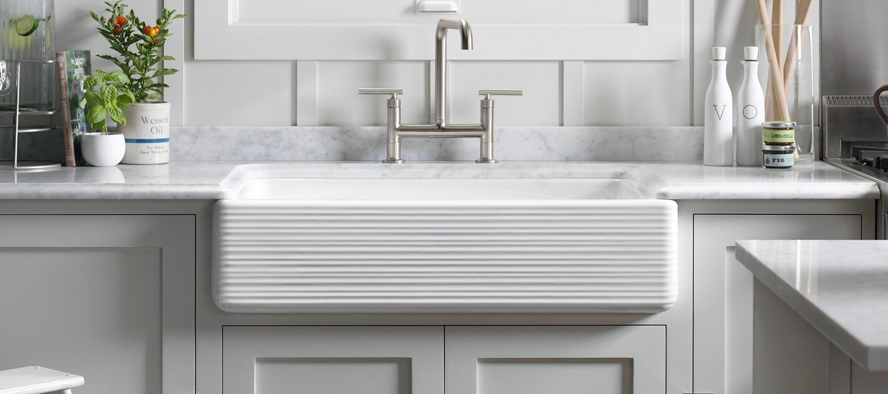 KOHLER Enameled Cast Iron Kitchen Sinks | Kitchen | KOHLER