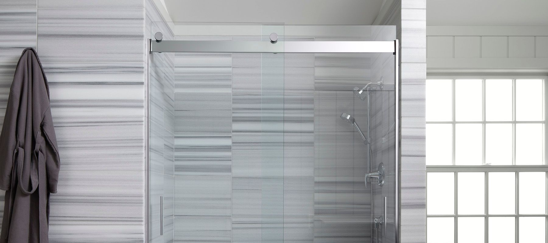 Frosted Shower Doors Showering Bathroom Kohler