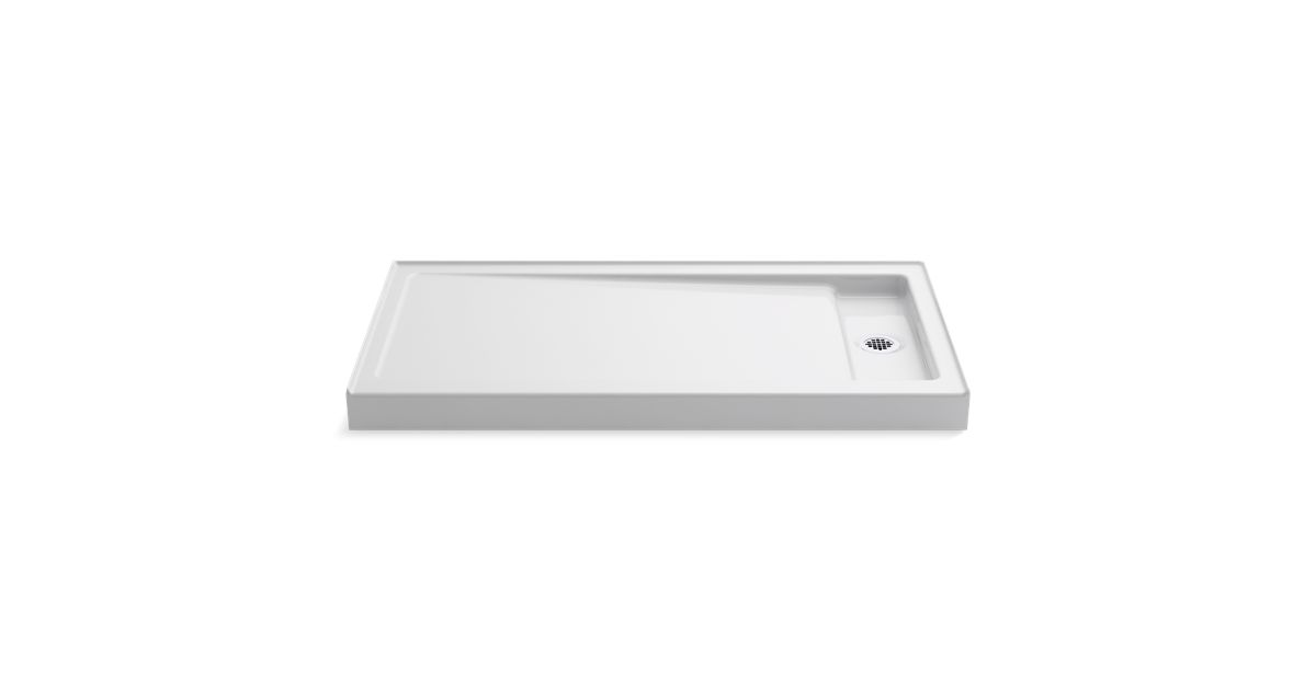 Bellwether 60 X 32 Inch Shower Base Right Offset Drain
