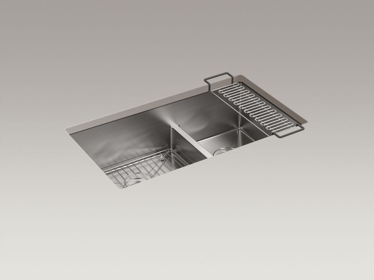 "Kohler Stainless Steel Kitchen Sinks k-5284 | strive® 32"" x 18-5/16"" x 9-5/16"" smart divide® under"
