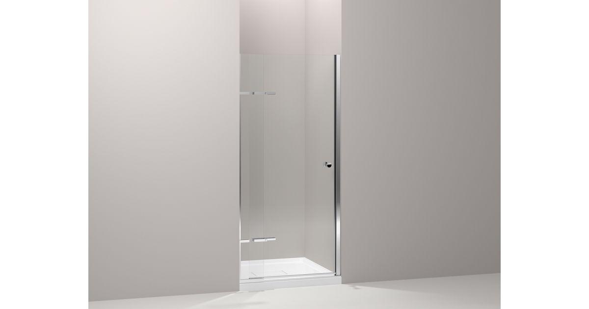 Underline Frameless Pivoting Shower Door   K-R709033-L   KOHLER