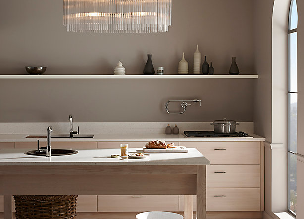 Clean and Contemporary Pale Neutral Kitchen