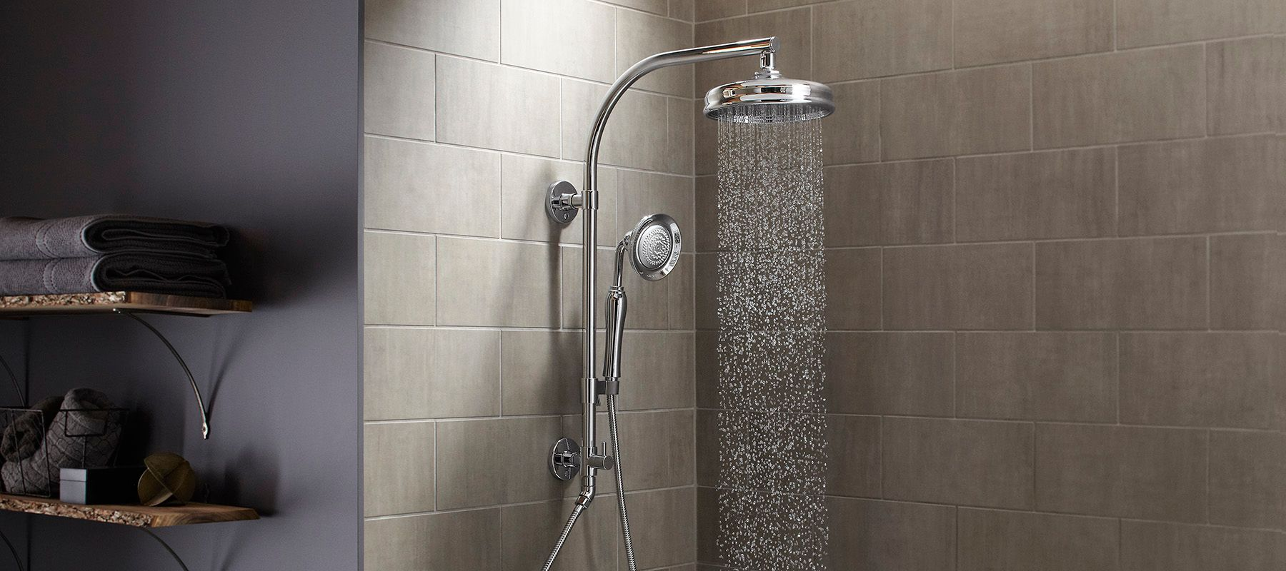 Kitchen Wall Faucet Shower Columns Showering Bathroom Kohler