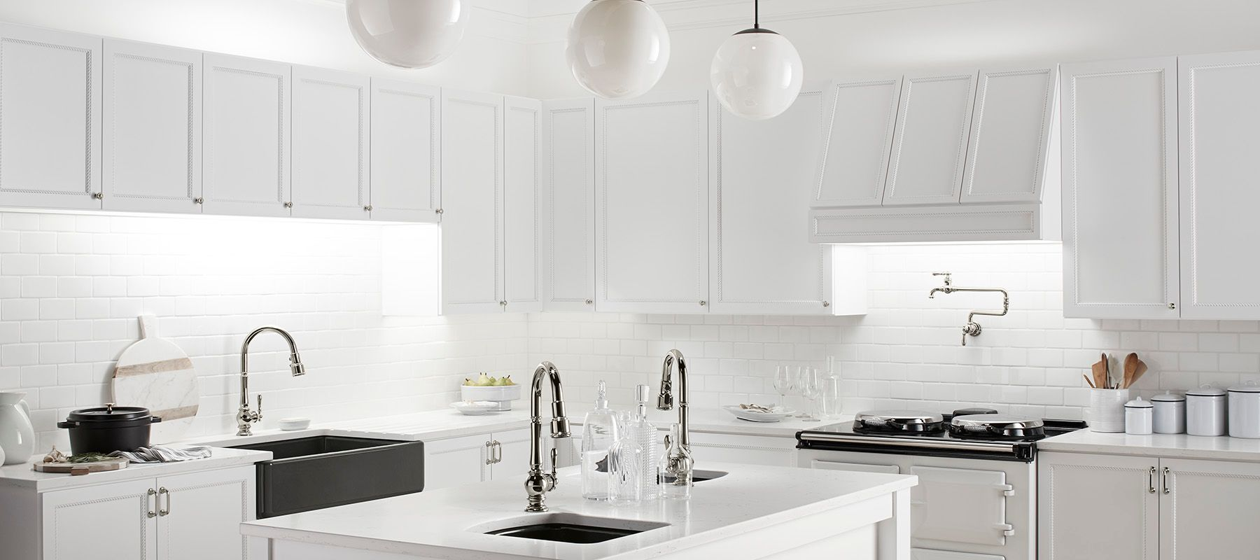 Kitchen Faucets White Finish