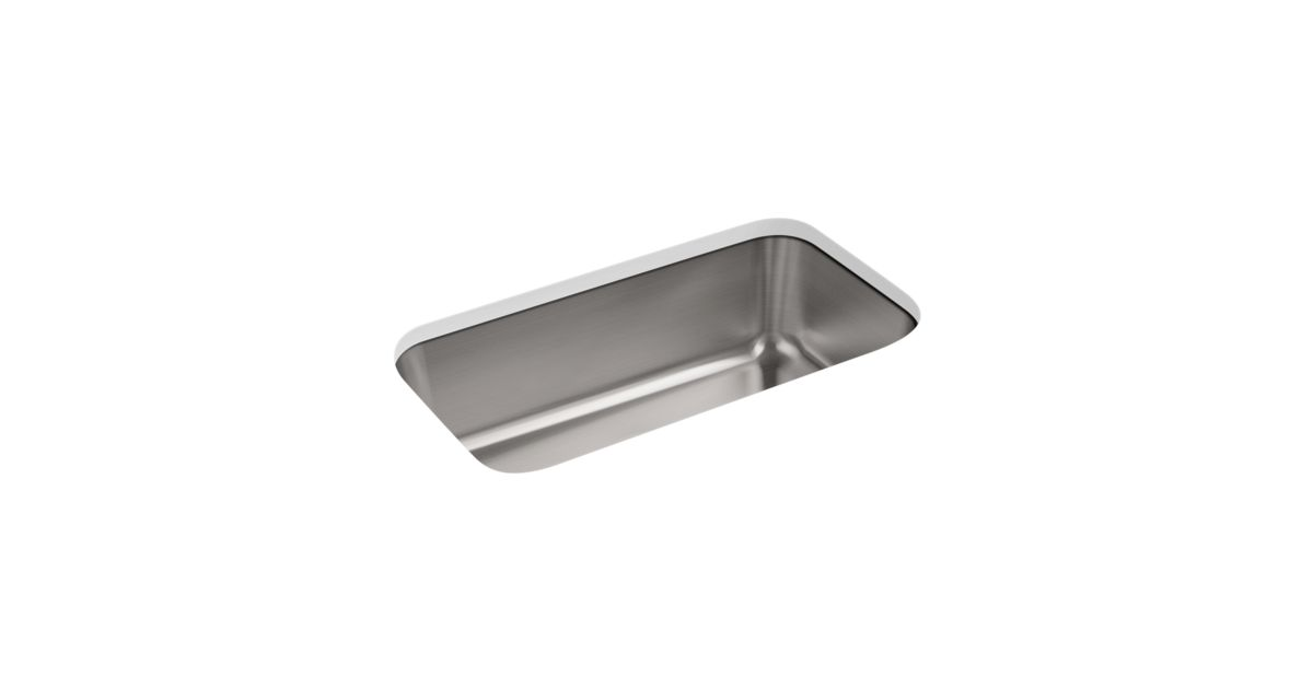 K 5290 Undertone 31 1 4 X 17 7 8 X 9 5 16 Large Under Mount Single Bowl Kitchen Sink Kohler