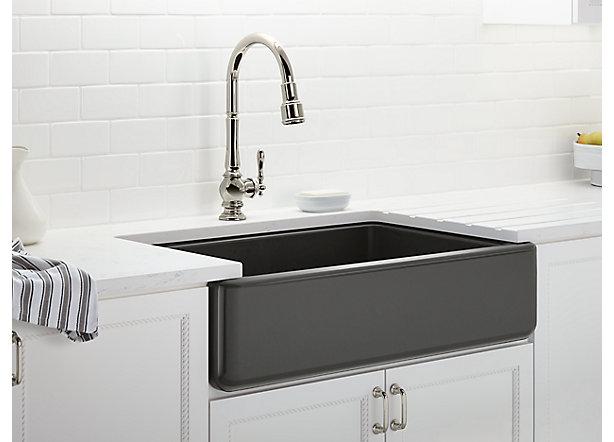 Tile In Kitchen Sink Kitchen sink configuration type buyers guide kohler kohler enameled cast iron workwithnaturefo