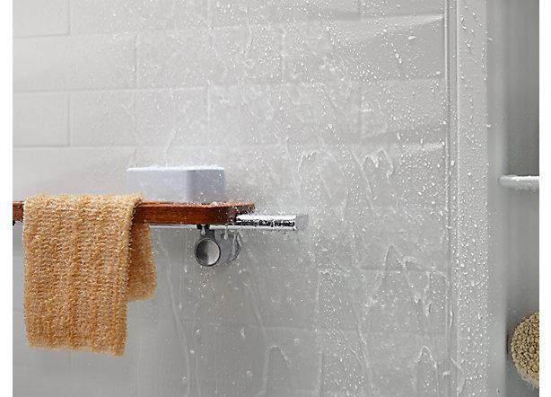 superb trendy kohler home m shelf shower design shelves storage