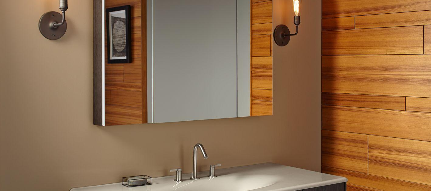 medicine cabinet cleaner  bathroom  kohler