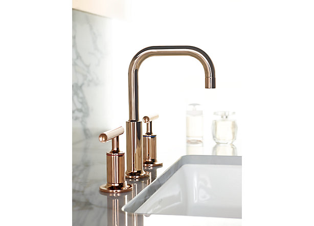 7 Faucet Finishes For Fabulous Bathrooms: New Rose Gold Faucet Finish From Kohler Captures The Bloom