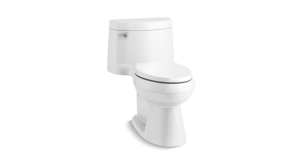 K-3619 | Cimarron Elongated Toilet with Concealed Trapway, 1.28 GPF ...