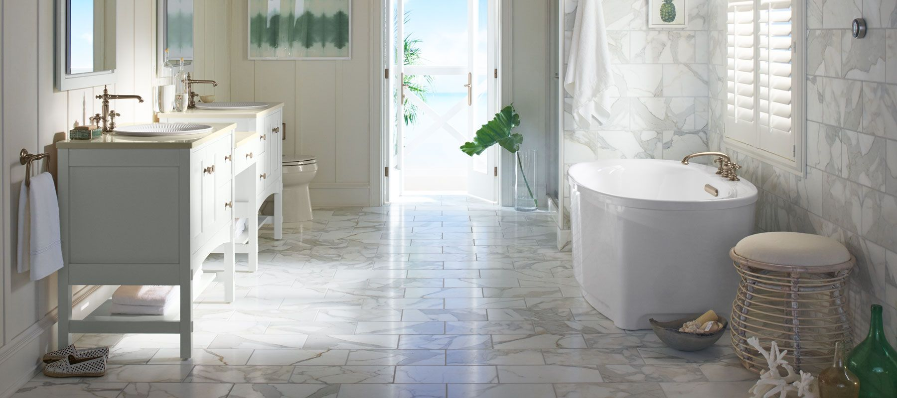 get inspired - Flooring Bathroom Ideas