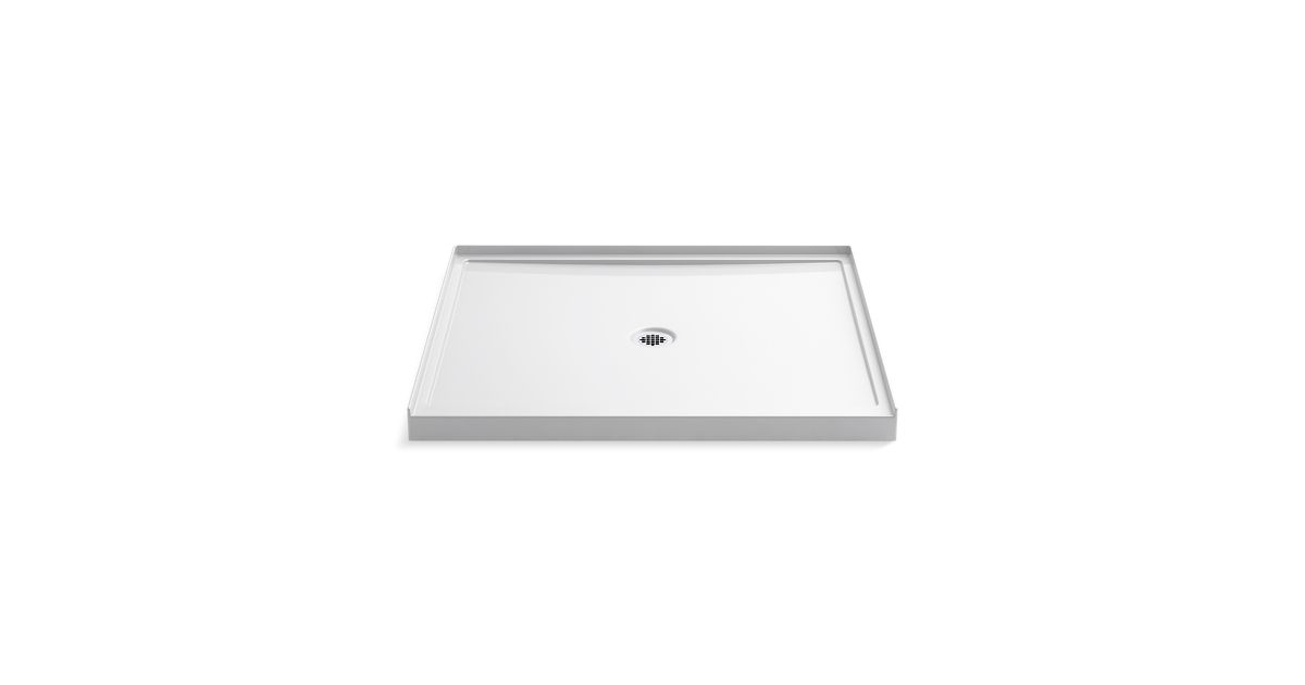 K 8648 | Rely Shower Base, 48 x 42 inch, Center Drain | KOHLER