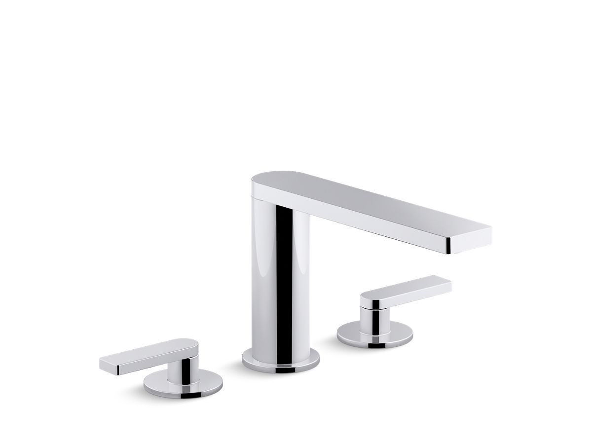Composed® deck-mount bath faucet with lever handles   Tuggl