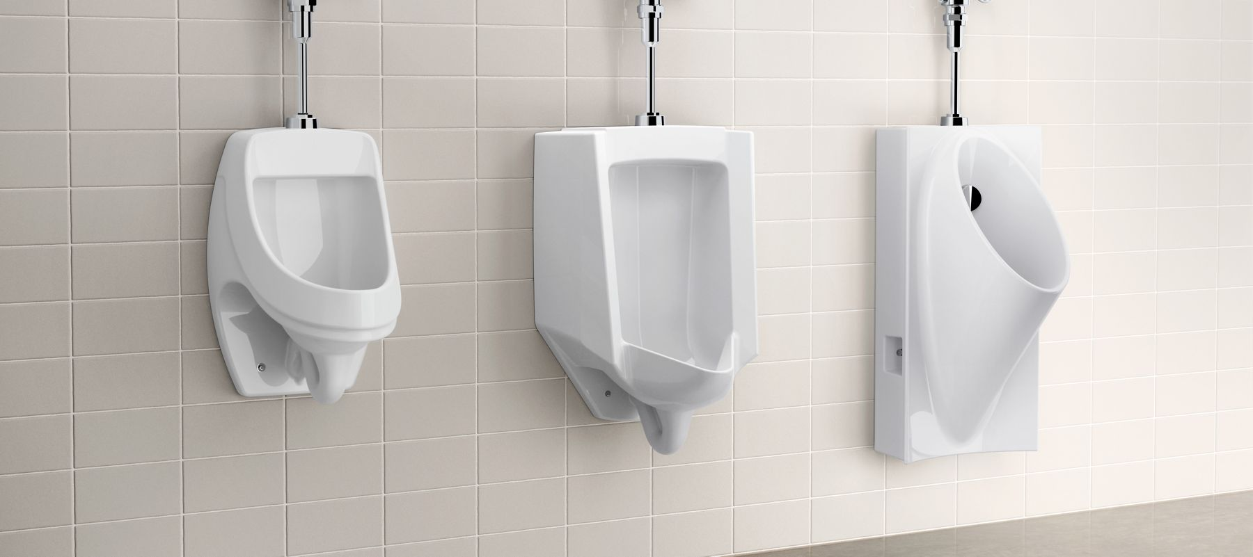 Urinal in bathroom