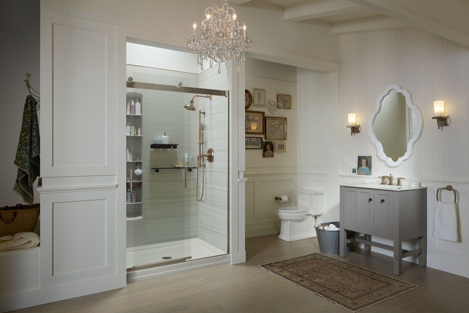 Frosted Shower Doors Showering Bathroom Kohler