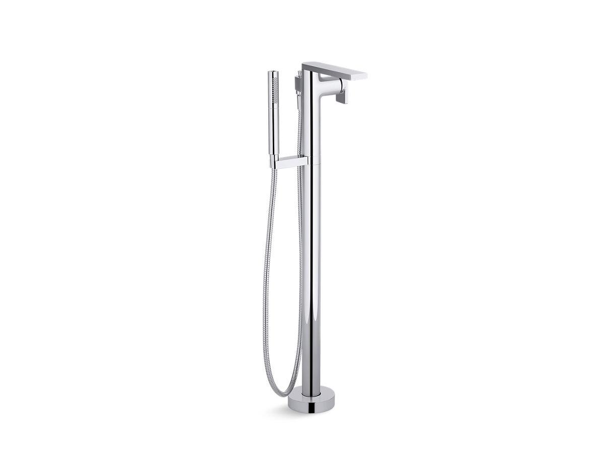 Composed® floor-mount bath filler trim with handshower | Tuggl
