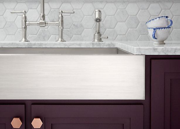 Apron-Front Sinks: An Easy Kitchen Update | KOHLER