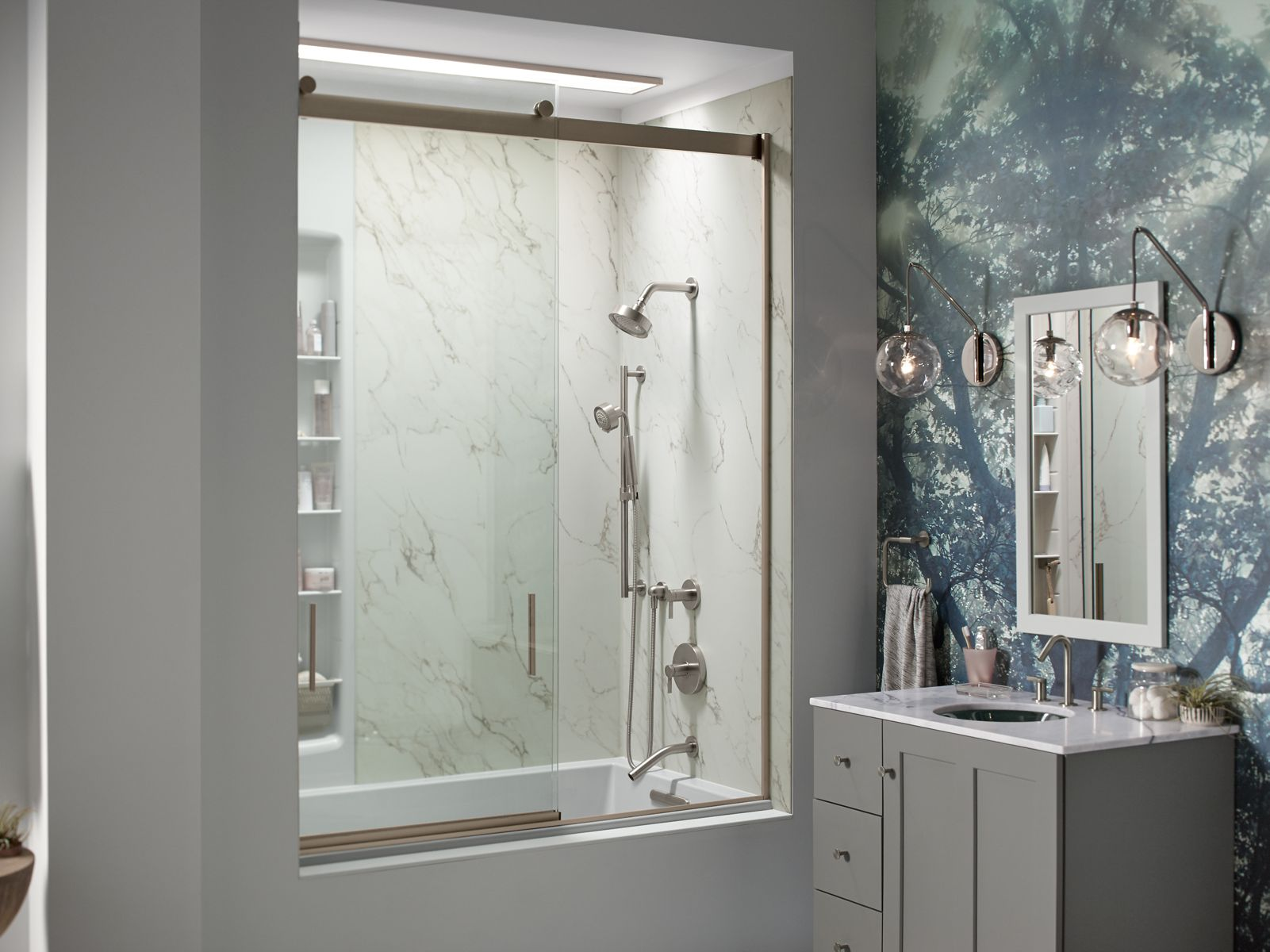 Bathroom Mirror Non Steam shower door guide | bathroom | kohler