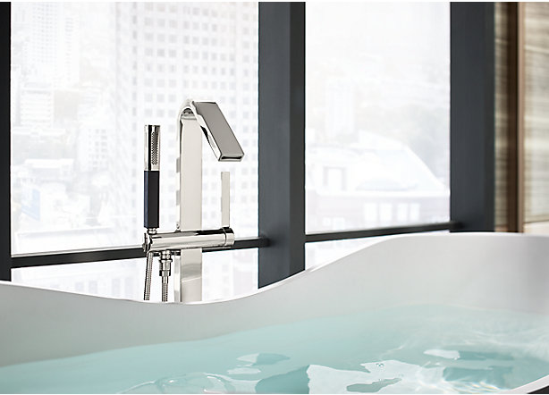 floormount bath faucets - Bathtub Faucets