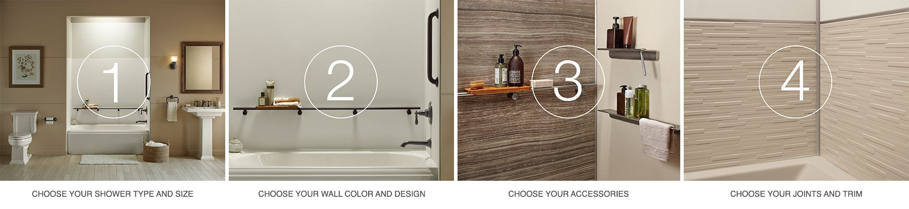 Bathroom Remodel Ideas Kohler choreograph shower wall and accessory collection | bathroom | kohler
