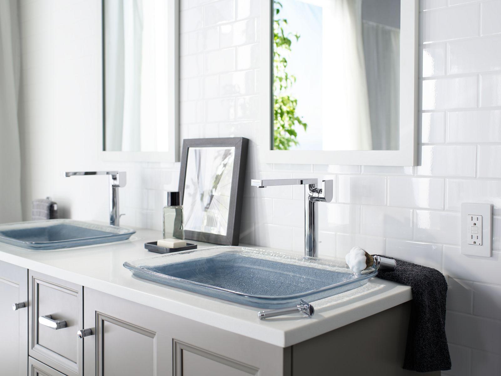 inia wading pool glass dropin rectangular bathroom sink