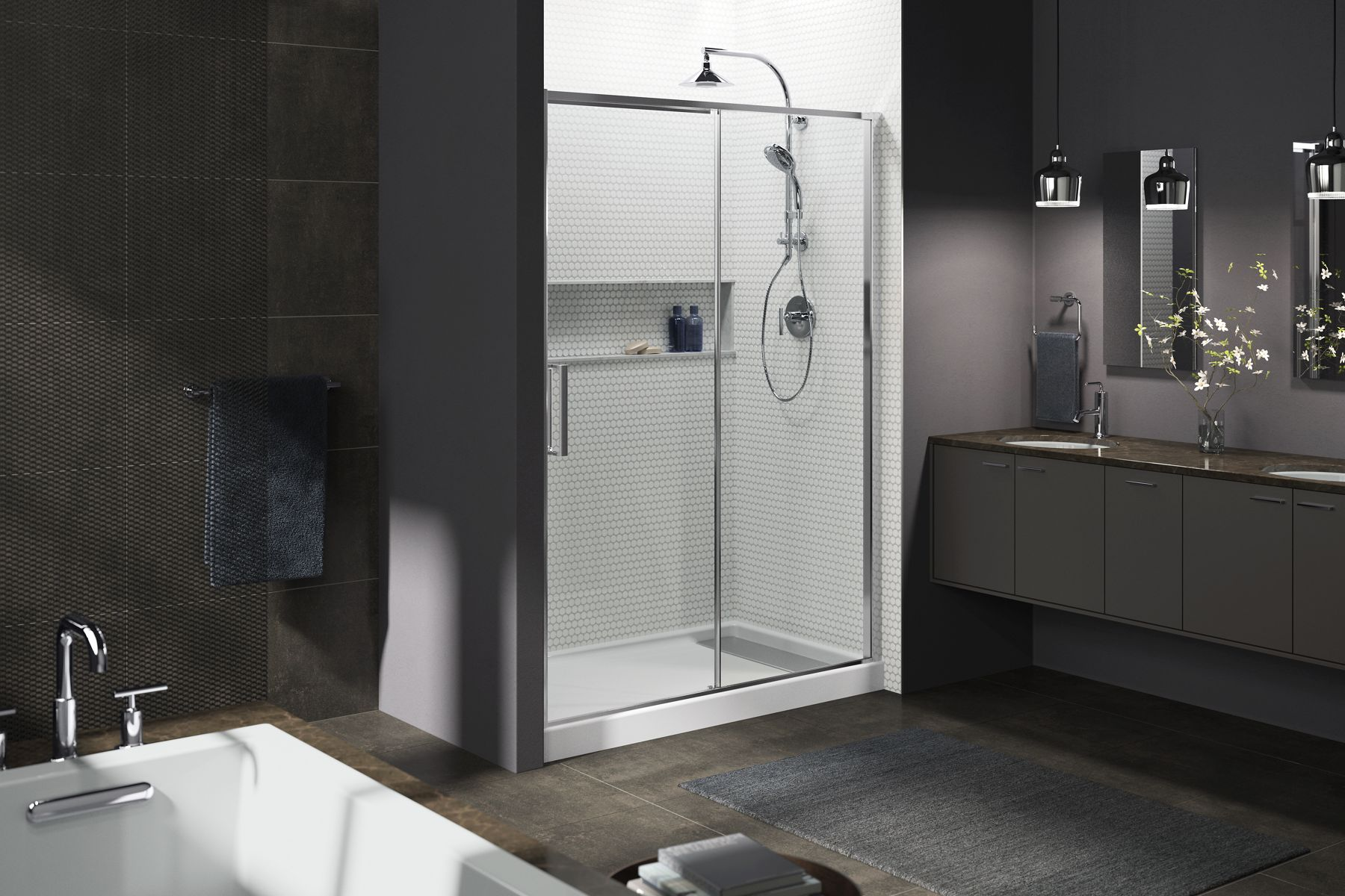 Torsion Shower Doors Showering Bathroom