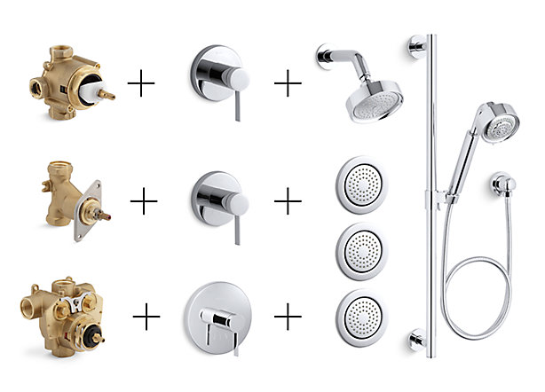 Shower Valves, Trims & Controls Guide | Bathroom | KOHLER