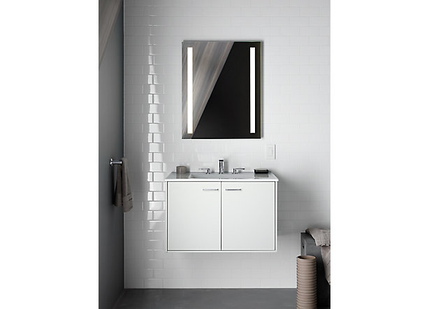 Bathroom Mirrors Kohler kohler sheds light on styling spaces with new cabinets, mirrors