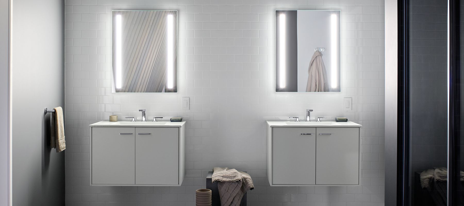 Bathroom mirrors bathroom kohler verdera lighted mirrors medicine cabinets aloadofball Choice Image