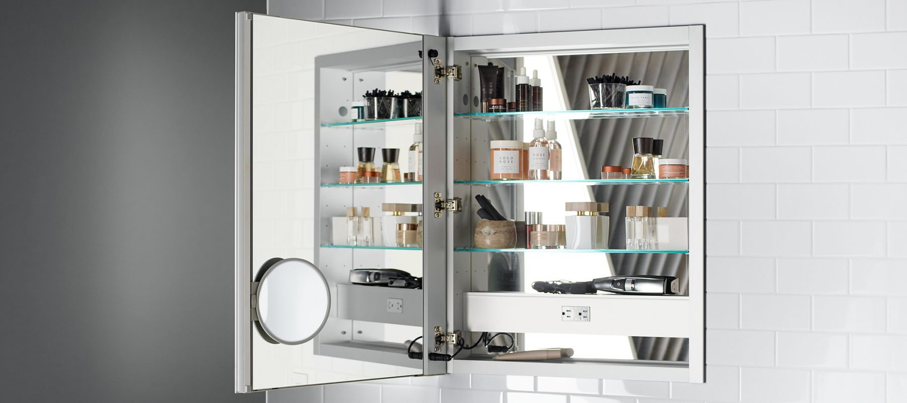 Medicine Cabinet With Built In Side Lights verdera™ medicine cabinets | bathroom new products | bathroom | kohler