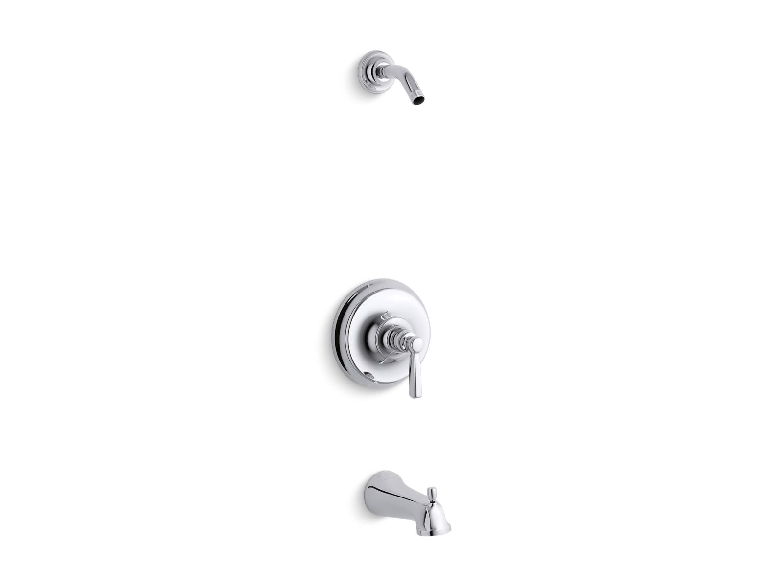 Bancroft® Rite Temp® Bath And Shower Valve Trim With Metal Lever Handle And  Slip Fit Spout, Less Showerhead