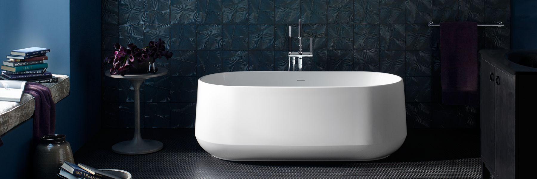 kohler cast iron freestanding tub.  Freestanding Baths KOHLER