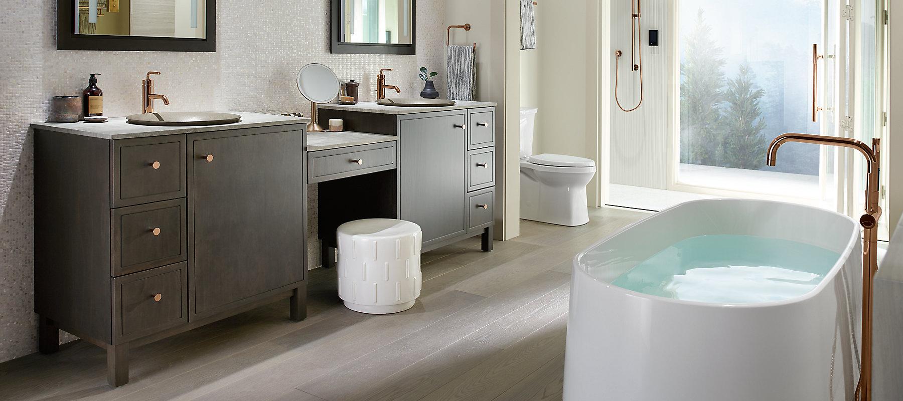 Nature-Inspired Master Bath