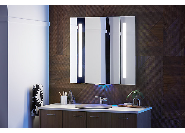 Surprising Verdera Voice Lighted Mirror With Amazon Alexa Kohler Download Free Architecture Designs Sospemadebymaigaardcom
